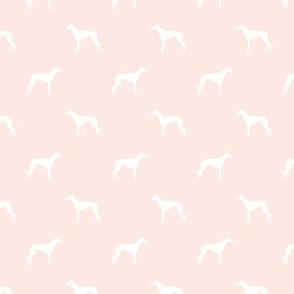 blush greyhound dog silhouette fabric
