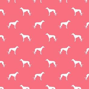 brink pink greyhound dog silhouette fabric