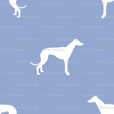 cerulean greyhound dog silhouette fabric
