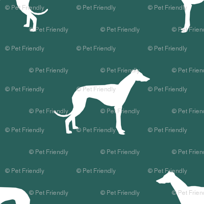 eden green greyhound dog silhouette fabric