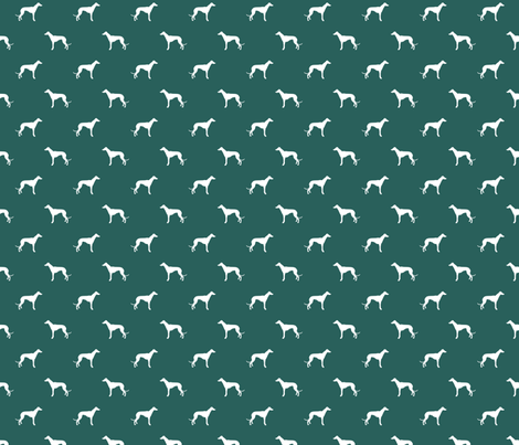 eden green greyhound dog silhouette fabric fabric by petfriendly on Spoonflower - custom fabric