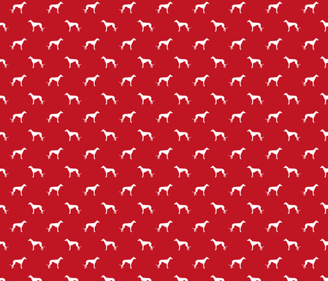 fire red greyhound dog silhouette fabric fabric by petfriendly on Spoonflower - custom fabric