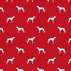 fire red greyhound dog silhouette fabric