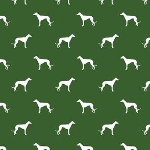 garden green greyhound dog silhouette fabric