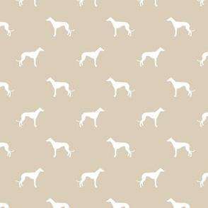 sand greyhound dog silhouette fabric