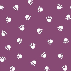 amethyst paw print fabric, pet fabric, dog fabric, cat fabric