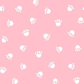 blossom paw print fabric, pet fabric, dog fabric, cat fabric
