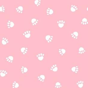 blossom paw print fabric, pet fabric, dog fabric, cat fabric