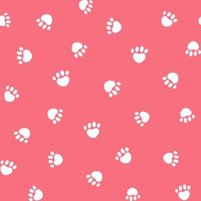 brink pink paw print fabric, pet fabric, dog fabric, cat fabric