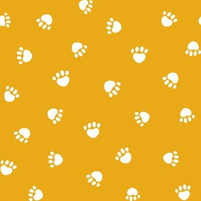 golden paw print fabric, pet fabric, dog fabric, cat fabric