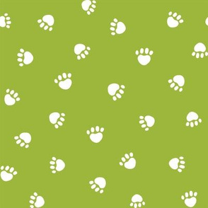 lime green paw print fabric, pet fabric, dog fabric, cat fabric