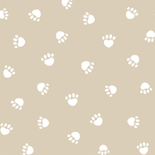 sand paw print fabric, pet fabric, dog fabric, cat fabric