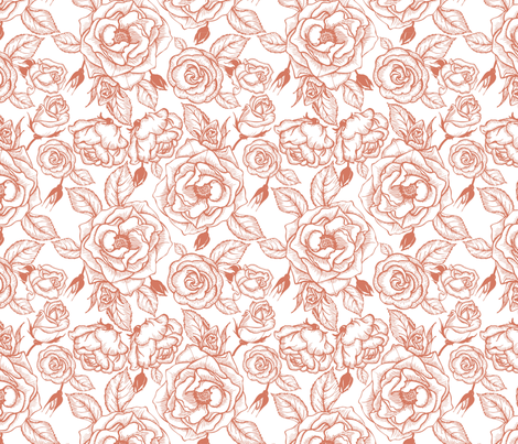 roses fabric by minyanna on Spoonflower - custom fabric