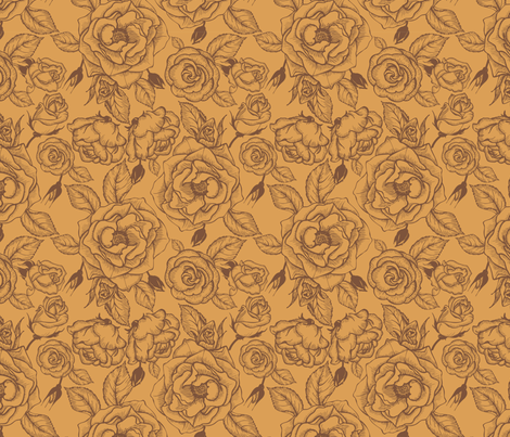 Tea roses 2 fabric by minyanna on Spoonflower - custom fabric
