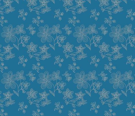 Daisy mix pattern fabric by zuzana_kokkinou on Spoonflower - custom fabric