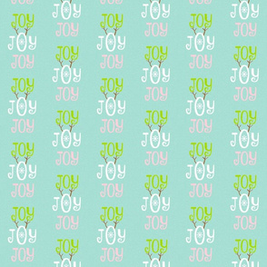 Joy Joy Joy -  MED seafoam coast snow