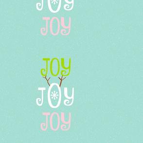 Joy Joy Joy 14x12 - seafoam coast snowfall