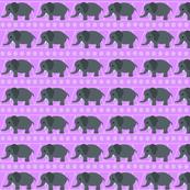 Baby Elephants on Pink
