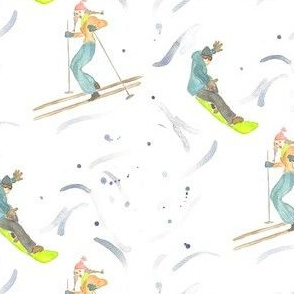 on the slopes