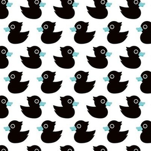 Cute little rubber duck adorable black baby and kids print boys blue