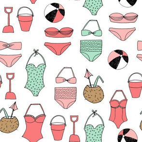 beach // summer swimsuits beach coconuts summer beach fabric