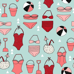 bikini // summer beach summer fabric swimsuits bikinis fabric andrea lauren