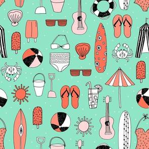 beach // beach summer swimsuits beach ball surfboards cute summer beaches fabric