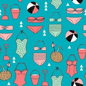 beach // beach summer swimsuit fabric beach ball fabrics swimming suits andrea lauren
