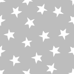 stars // grey and white fabric star fabric andrea lauren fabrics star grey