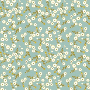 Duck Egg Blue Daisy