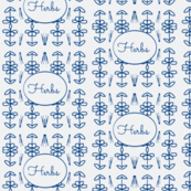 Herbs (blue on white)