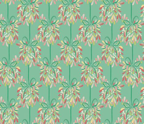 Holiday Kiss Mint fabric by katebillingsley on Spoonflower - custom fabric