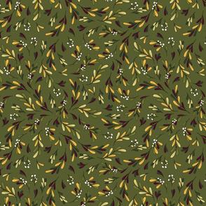 Mistletoe Twirl Pine Green