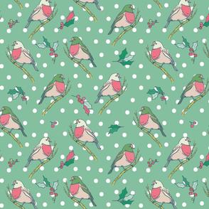 Winter Birds Mint