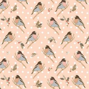 Winter Birds Pale Pink