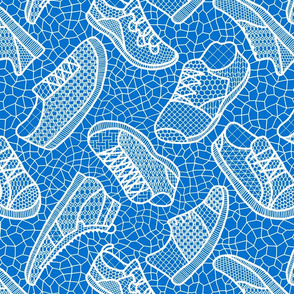 Lace up your sneakers - xmas blue_and_white