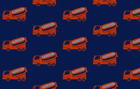 Garrison Loves Trucks fabric by crafteegirl_ on Spoonflower - custom fabric