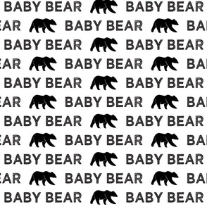 Baby Bear || black & white