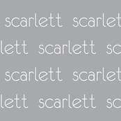 Personalized Baby Name Fabric - Scarlett Modern