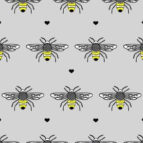 Bumble Bee in Grey