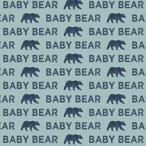 baby bear || dusty blue and navy linen