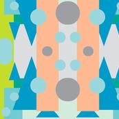 geo turquoise triangles