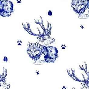 four friends - blue - potter's world