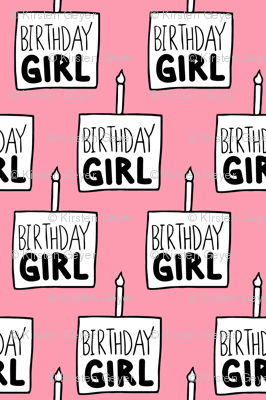 Birthday Girl in Pink - Large