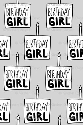 Birthday Girl in Grey