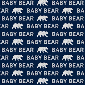 baby bear || grey on navy