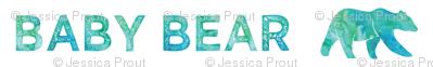 baby bear || watercolor bear