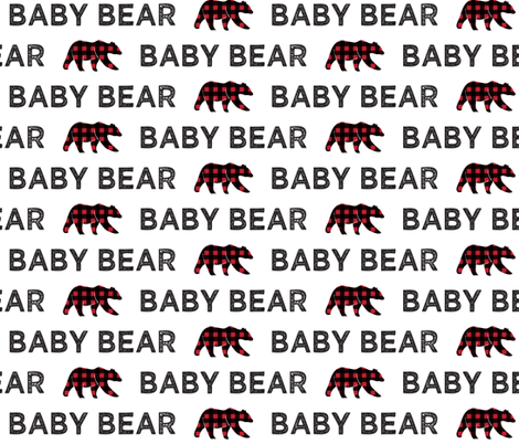 baby bear || bear plaid on white fabric by littlearrowdesign on Spoonflower - custom fabric