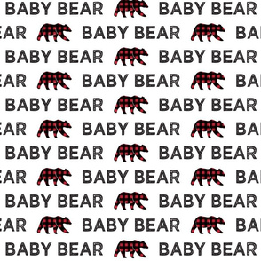 baby bear || bear plaid on white