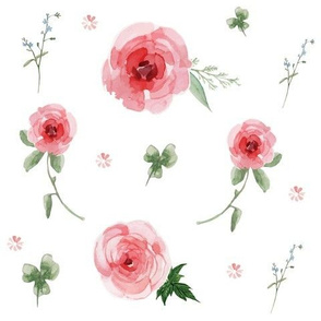 Watercolor Floral Pinks